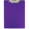 "OIC Low-profile Clip Plastic Clipboard - 8.50"" x 11"" - Plastic - Purple"