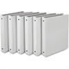 "Samsill Economy View Ring Binder - 1"" Binder Capacity - Round Ring Fastener - White - Recycled - 6 / Carton"