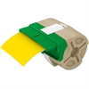 "Leitz System 39' Drop-in Label Cartridges - Permanent Adhesive - ""3.50"" Width x 32.81 ft Length - Yellow - Plastic - 1 Each"