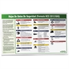 "Impact Products Safety Data Sheet Spanish Poster - Safety - 32"" Width x 20"" Height - Assorted"