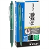FriXion Clicker Erasable Gel Pen - Fine Point Type - 0.7 mm Point Size - Refillable - Green Gel-based Ink - Green Metal Barrel - 1 / Pack