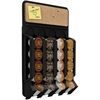 Mounty WMNT-BLK Wall Rack - 20 x Coffee Pod - Wall Mountable - Black - 1Each
