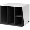 "Premier 4 Compartment Organizer - 4 Compartment(s) - 12.4"" Height x 12.4"" Width x 12.4"" Depth - Desktop - Recycled - Black - 1Each"