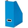 Bankers Box PREMIER Magazine File - Blue, White - Plastic Grommet - 3 / Pack