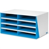 "Bankers Box 8-Compartment Sorter - 8 Compartment(s) - Compartment Size 2.13"" x 9"" x 12"" - 10.3"" Height x 19.5"" Width x 12.4"" Depth - Desktop - Recycled - White, Blue - 1Each"