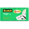 "Scotch Magic Tape Value Pack - 0.75"" Width x 66.67 ft Length - 1"" Core - Photo-safe, Easy Tear, Perforated, Writable Surface - 8 / Pack - Green"