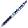 Bottle to Pen (B2P) Fine Point Retractable Gel Pens - Fine Point Type - Refillable - Purple Gel-based Ink - 1 Each