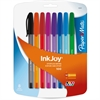 Paper Mate Inkjoy 100 Ballpoint Stick Pens - Medium Point Type - 1 mm Point Size - Refillable - Assorted - Transparent, Tinted Barrel - 8 / Pack