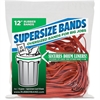 "Alliance Rubber SuperSize 12"" Bands - 12"" Length x 0.25"" Width - Reusable - 18 / Pack - Red"
