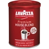 Lavazza Premium House Blend Ground Coffee Ground - Caffeinated - House Blend, Arabica - Dark - 10 oz Per Can - 1 Each