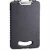 "OIC Ergonomic Handle Tablet Clipboard Case - 0.50"" Clip Capacity - Storage for Stationary - Bottom Opening - Low-profile - Plastic - Charcoal"