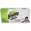"Bounty Everyday Napkins - 1 Ply - 12"" x 12.10"" - White - Soft, Strong, Absorbent, Quilted - For Face, Hand, Clothes - 100 Sheets Per Pack - 2000 / Carton"