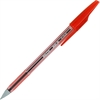 Better BP-S Ball Stick Pens - Fine Point Type - Refillable - Red - Tinted Barrel - 1 Dozen