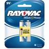 Rayovac Alkaline 9V Battery, Blue/Gray - Alkaline - 9 V DC - 1 / Pack