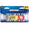 Rayovac Alkaline AA Batteries - AA - Alkaline - 16 / Pack