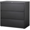 "Lorell Hanging File Drawer Charcoal Lateral Files - 36"" x 18.8"" x 40.1"" - 3 x Drawer(s) for File - A4, Legal, Letter - Lateral - Anti-tip, Security Lock, Ball Bearing Slide, Reinforced Base, Leveling"