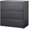 "Lorell Hanging File Drawer Charcoal Lateral Files - 42"" x 18.8"" x 40.1"" - 3 x Drawer(s) for File - A4, Legal, Letter - Lateral - Anti-tip, Security Lock, Ball Bearing Slide, Reinforced Base, Leveling"