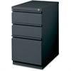 "Lorell 20"" BBF Mobile Pedestal File - 15"" x 19.9"" x 27.8"" - 3 x Drawer(s) for Box, File - Letter - Mobility, Casters, Drawer Extension, Security Lock, Recessed Drawer, Ball-bearing Suspension - Charco"