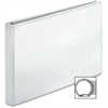 "Business Source Tabloid-size White Reference Binder - 1"" Binder Capacity - Tabloid - 11"" x 17"" Sheet Size - Round Ring Fastener - White - 1 Each"