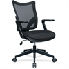 "Lorell S-8 Task Mesh Back Task Chair - Fabric Seat - 5-star Base - Black - 20.70"" Seat Width x 19.70"" Seat Depth - 40.5"" Width x 20.7"" Depth x 19.7"" Height"