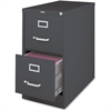 "Lorell 26-1/2"" Vertical File Cabinet - 15"" x 26.5"" x 28"" - 2 x Drawer(s) for File - Letter - Vertical - Drawer Extension, Security Lock, Label Holder, Pull Handle - Charcoal - Aluminum, Steel - Recycl"