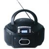 AmpliVox Top-Loading CD/AM/FM Tuner Boom Box, Black - 1 x Disc - 2.4 W Integrated Stereo Speaker - Black LCD - MP3, WMA, CD-DA - 108 MHz, 1600 kHz - SD - USB - Auxiliary Input