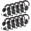 Califone Switchable Stereo/Mono Headphones - Stereo - Black - Mini-phone - Wired - 36 Ohm - Over-the-head - Binaural - Circumaural - 10 ft Cable