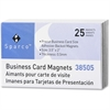Sparco 38505 Business Card Magnets - Rectangle - Adhesive - 25 / Pack