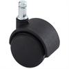 "Lorell Hard Wheel B Stem Standard Safety Casters - 1.97"" Diameter - Nylon, Metal - Black"