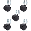 "Lorell Hard Wheel Deluxe Casters Set - 1.97"" Diameter - Nylon, Metal - Black"