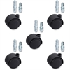 "Lorell Soft Wheel Deluxe Casters Set - 1.97"" Diameter - Nylon, Metal - Black"