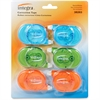 Transparent Case Correction Tape Pack - Writable Surface, Non-refillable - 6 / Pack - Assorted Dispenser
