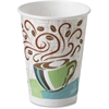 Dixie PerfecTouch Insulated Hot Cups - 12 fl oz - 160 / Pack - Assorted - Paper - Hot Drink