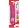 EnerGel Breast Cancer Awareness X Retractable Gel Pens - Medium Point Type - 0.7 mm Point Size - Refillable - Pink Gel-based Ink - Tinted Barrel - 3 / Pack