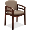 "HON 2112 Double Rail Mahogany Wood Guest Chair - Morel Seat - Morel Back - Hardwood Mahogany Frame - Four-legged Base - 20"" Seat Width x 17.50"" Seat Depth - 23.5"" Width x 18.5"" Depth x 33.1"" Height"