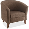 "Lorell Fabric Club Armchair - Fabric Brown Seat - Brown Back - Four-legged Base - 31.5"" Width x 28.8"" Depth x 30.8"" Height"