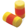E-A-R NRR 29 Cordless Ear Plugs - Regular Size - Noise Protection - Foam, Polyvinyl Chloride (PVC) - Yellow, Red - 200 / Box