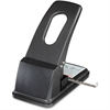 """Sparco Two-hole Power Punch - 2 Punch Head(s) - 100 Sheet Capacity - 1/4"""" Punch Size - Black"""