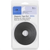 "Sparco 38506 Magnetic Tape Roll - 0.50"" Width x 10 ft Length - Adhesive Backing - Flexible, Magnetic - 1 Each - Black"
