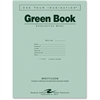 "Recycled Wide Ruled Exam Green Book - 8 Sheets - Printed - Stapled - 15 lb Basis Weight 11"" x 8.50"" - White Paper - Green Cover - Recycled - 1Each"