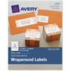 "Avery Textured Wrap Around Labels - Permanent Adhesive - 50 Label(s)"" - 7.85"" Width x 1.75"" Length - 5 / Sheet - Rectangle - Laser, Inkjet - White - 50 / Pack"