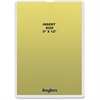 "Anglers Heavy Crystal Clear Poly Envelopes - Document - 9"" Width x 12"" Length - Polypropylene - 50 / Pack - Crystal Clear"