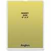 "Anglers Self-stick Crystal Clear Poly Envelopes - File - 6"" Width x 9"" Length - Self-sealing - Polypropylene - 50 / Pack - Crystal Clear"