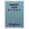 "Anglers Self-stick Crystal Clear Poly Envelopes - File - 2.25"" Width x 3.50"" Length - Self-sealing - Polypropylene - 50 / Pack - Crystal Clear"