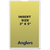 "Anglers Self-stick Crystal Clear Poly Envelopes - File - 3"" Width x 5"" Length - Self-sealing - Polypropylene - 50 / Pack - Crystal Clear"