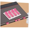 "Redi-Tag Breast Cancer Awareness Pop-up Page Flags - 140 x Pastel Pink - 0.47"" x 1.70"" - Rectangle - Pastel Pink - Self-adhesive, Writable, Removable, Removable, Residue-free - 140 / Pack"