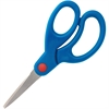 "Sparco Bent Tip 5"" Kids Scissors - 5"" Overall Length - Bent - Stainless Steel, Rubber - Blue"