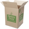 """Duck Double-wall Construction Hvy-duty Boxes - External Dimensions: 18"""" Width x 18"""" Depth x 24"""" Height - Heavy Duty - Brown - For Storage - 1 Each"""