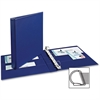 "Avery Booster EZD Rings Durable Binders - 1"" Binder Capacity - 275 Sheet Capacity - 2 x D-Ring Fastener(s) - 4 Internal Pocket(s) - Chipboard - Navy Blue - Recycled - 1 Each"