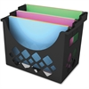 "Deflect-o Desktop Hanging File Folder - 9.6"" Height x 13.3"" Width x 8.5"" Depth - Desktop - Recycled - Black - 1Each"
